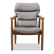 Baxton Studio Hadley Mid-Century Modern Grey Fabric and Walnut Brown Finished Wood Lounge Chair Baxton Studio-chairs-Minimal And Modern - 3