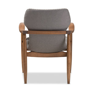 Baxton Studio Hadley Mid-Century Modern Grey Fabric and Walnut Brown Finished Wood Lounge Chair Baxton Studio-chairs-Minimal And Modern - 5