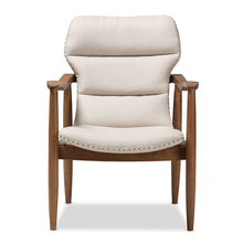 Baxton Studio Hadley Mid-Century Modern Light Beige Fabric and Walnut Brown Finished Wood Lounge Chair Baxton Studio-chairs-Minimal And Modern - 3