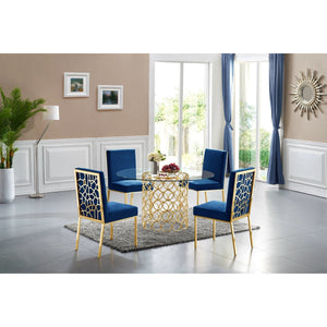 Meridian Furniture Opal Gold Dining Table-Minimal & Modern