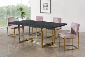Meridian Furniture Elle Gold Dining Table