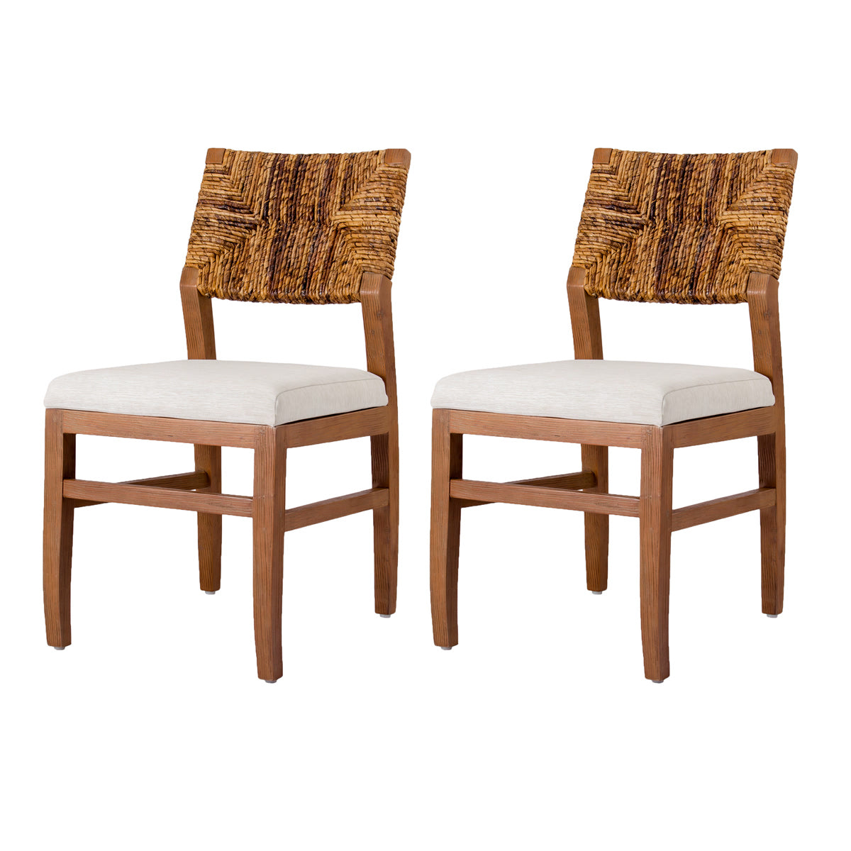 Lyon Abaca Dining Chair - Set of 2 by New Pacific Direct - 7400024