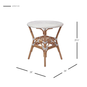 Orleans Paris Rattan Bistro Table by New Pacific Direct - 7400040