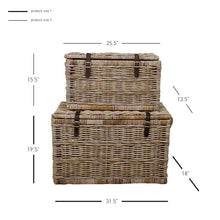 Rectangular Rattan 2 sets Trunk by New Pacific Direct - 740080