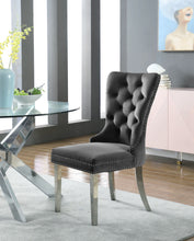 Meridian Furniture Carmen Grey Velvet Dining Chair - Set of 2