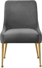 Meridian Furniture Owen Grey Velvet Dining Chair - Set of 2