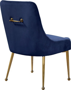 Meridian Furniture Owen Navy Velvet Dining Chair - Set of 2