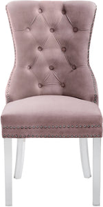 Meridian Furniture Miley Pink Velvet Dining Chair - Set of 2