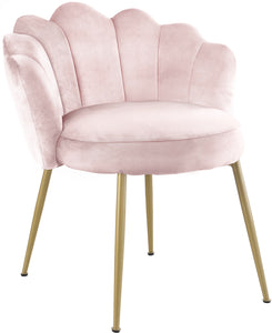 Meridian Furniture Claire Pink Velvet Dining Chair - Set of 2