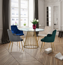 Meridian Furniture Gio Gold Dining Table