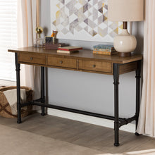 Baxton Studio Zeta Rustic Industrial Metal and Distressed Wood 3-Drawer Storage Desk Baxton Studio-Desks-Minimal And Modern - 1