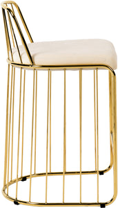 Meridian Furniture Gio Cream Velvet Stool