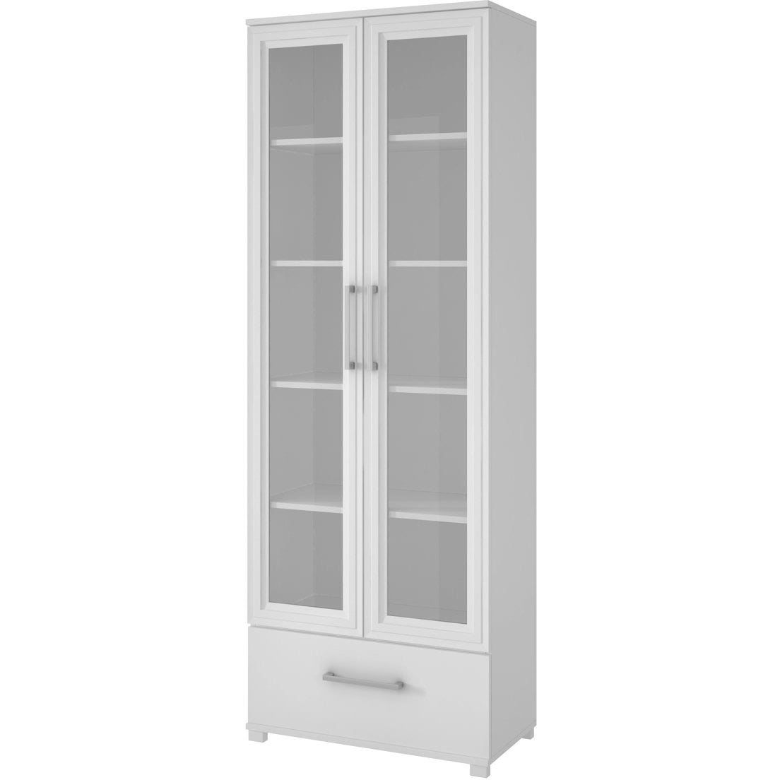 Accentuations by Manhattan Comfort Serra 1.0 - 5-Shelf Bookcase in White-Minimal & Modern