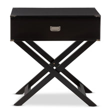 Baxton Studio Curtice Modern And Contemporary Black 1-Drawer Wooden Bedside Table Baxton Studio-nightstands-Minimal And Modern - 4