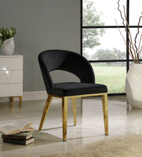 Meridian Furniture Roberto Black Velvet Dining Chair
