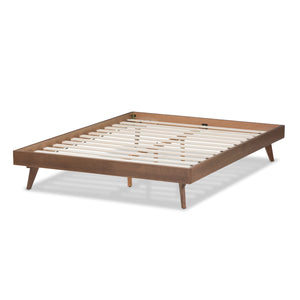 Baxton Studio Jacob Mid-Century Modern Walnut Brown Finished Solid Wood Full Size Bed Frame Baxton Studio-beds-Minimal And Modern - 3