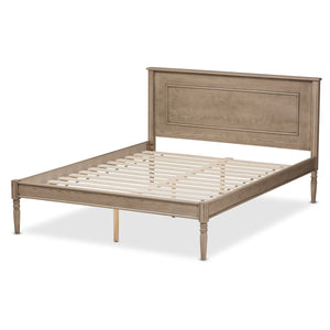Baxton Studio Axton Modern and Contemporary Weathered Grey Finished Wood Queen Size Bed Baxton Studio-beds-Minimal And Modern - 4