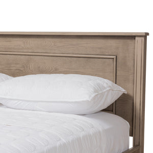 Baxton Studio Axton Modern and Contemporary Weathered Grey Finished Wood Queen Size Bed Baxton Studio-beds-Minimal And Modern - 6