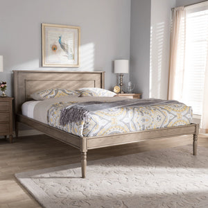 Baxton Studio Axton Modern and Contemporary Weathered Grey Finished Wood King Size Bed Baxton Studio-beds-Minimal And Modern - 9