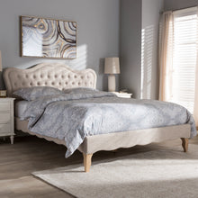 Baxton Studio Alicia French Modern Classic Beige Fabric Queen Size Platform Bed Baxton Studio-beds-Minimal And Modern - 9