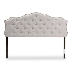 Baxton Studio Aurora Modern and Contemporary Greyish Beige Fabric King Size Headboard Baxton Studio-Headboards-Minimal And Modern - 2
