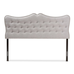 Baxton Studio Emma Modern and Contemporary Greyish Beige Fabric Queen Size Headboard Baxton Studio-Headboards-Minimal And Modern - 2