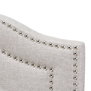 Baxton Studio Edith Modern and Contemporary Greyish Beige Fabric Queen Size Headboard Baxton Studio-Headboards-Minimal And Modern - 3