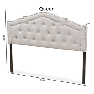 Baxton Studio Edith Modern and Contemporary Greyish Beige Fabric Queen Size Headboard Baxton Studio-Headboards-Minimal And Modern - 6