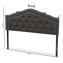 Baxton Studio Edith Modern and Contemporary Dark Grey Fabric King Size Headboard Baxton Studio-Headboards-Minimal And Modern - 6