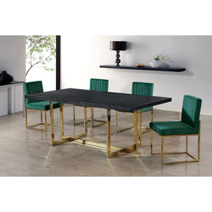Meridian Furniture Giselle Green Velvet Dining Chair-Minimal & Modern