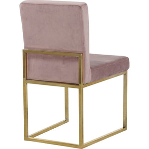 Meridian Furniture Giselle Pink Velvet Dining Chair-Minimal & Modern