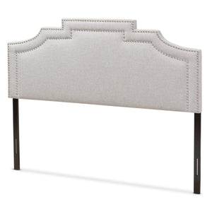 Baxton Studio Deena Modern and Contemporary Greyish Beige Fabric Full Size Headboard Baxton Studio-Headboards-Minimal And Modern - 1