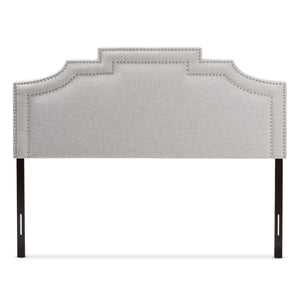 Baxton Studio Deena Modern and Contemporary Greyish Beige Fabric King Size Headboard Baxton Studio-Headboards-Minimal And Modern - 2