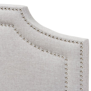 Baxton Studio Deena Modern and Contemporary Greyish Beige Fabric Full Size Headboard Baxton Studio-Headboards-Minimal And Modern - 3