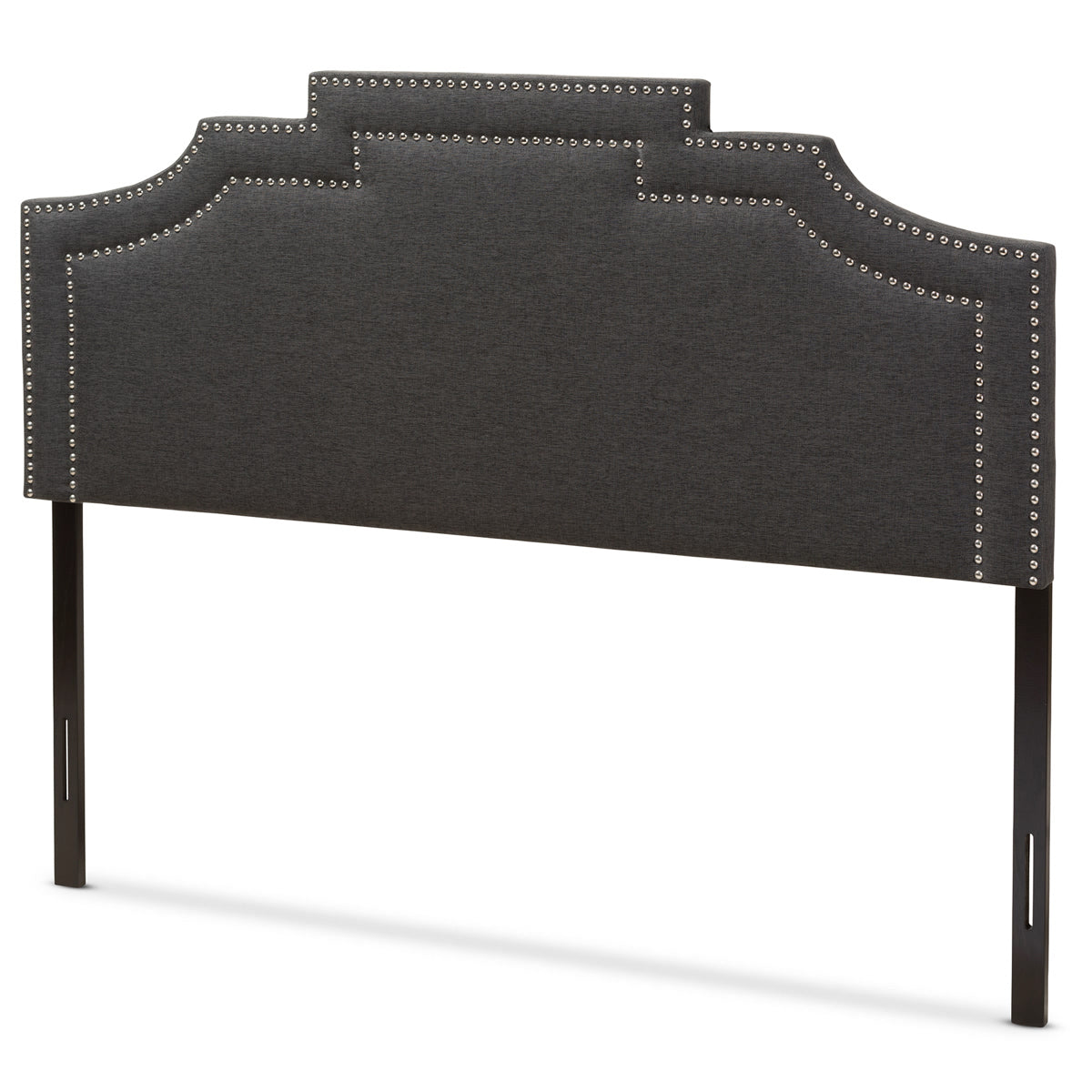 Baxton Studio Deena Modern and Contemporary Dark Grey Fabric Full Size Headboard Baxton Studio-Headboards-Minimal And Modern - 1