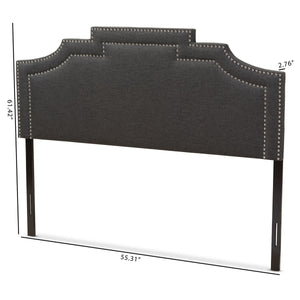 Baxton Studio Deena Modern and Contemporary Dark Grey Fabric Full Size Headboard Baxton Studio-Headboards-Minimal And Modern - 6
