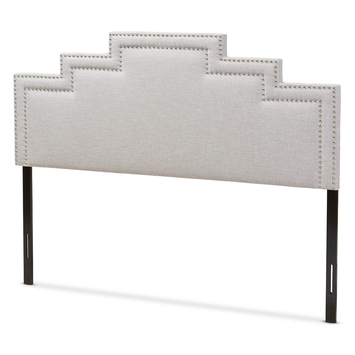 Baxton Studio Sophia Modern and Contemporary Greyish Beige Fabric King Size Headboard Baxton Studio-Headboards-Minimal And Modern - 1