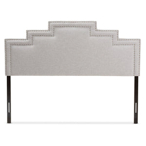 Baxton Studio Sophia Modern and Contemporary Greyish Beige Fabric Queen Size Headboard Baxton Studio-Headboards-Minimal And Modern - 2