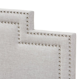 Baxton Studio Sophia Modern and Contemporary Greyish Beige Fabric King Size Headboard Baxton Studio-Headboards-Minimal And Modern - 3