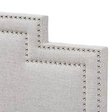 Baxton Studio Sophia Modern and Contemporary Greyish Beige Fabric Queen Size Headboard Baxton Studio-Headboards-Minimal And Modern - 3
