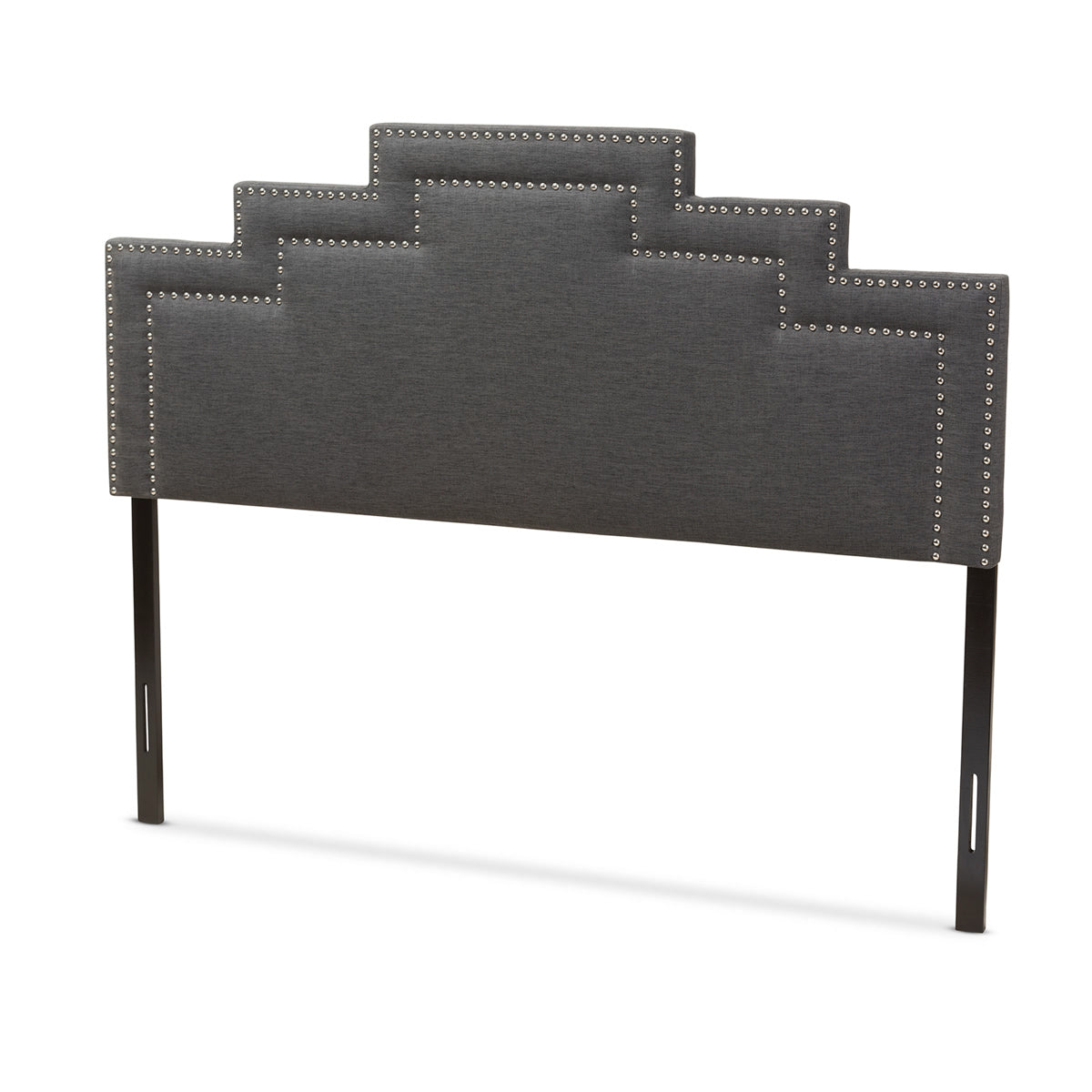Baxton Studio Sophia Modern and Contemporary Dark Grey Fabric Queen Size Headboard Baxton Studio-Headboards-Minimal And Modern - 1
