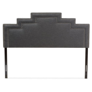 Baxton Studio Sophia Modern and Contemporary Dark Grey Fabric Queen Size Headboard Baxton Studio-Headboards-Minimal And Modern - 2