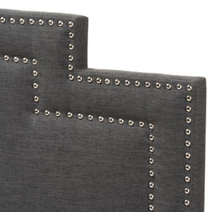 Baxton Studio Sophia Modern and Contemporary Dark Grey Fabric Queen Size Headboard Baxton Studio-Headboards-Minimal And Modern - 3