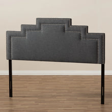 Baxton Studio Sophia Modern and Contemporary Dark Grey Fabric Queen Size Headboard Baxton Studio-Headboards-Minimal And Modern - 5