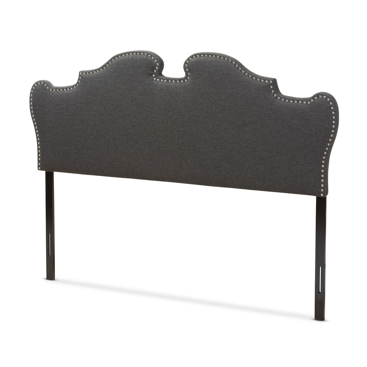Baxton Studio Dalton Modern and Contemporary Dark Grey Fabric Queen Size Headboard Baxton Studio-Headboards-Minimal And Modern - 1