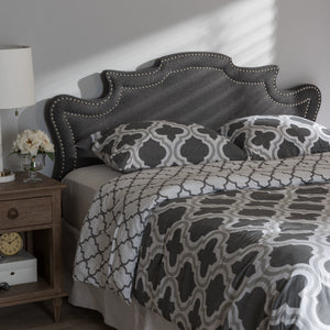 Baxton Studio Debbie Modern and Contemporary Dark Grey Fabric Queen Size Headboard Baxton Studio-Headboards-Minimal And Modern - 4