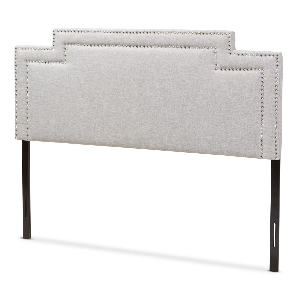 Baxton Studio Casey Modern and Contemporary Greyish Beige Fabric King Size Headboard Baxton Studio-Headboards-Minimal And Modern - 1
