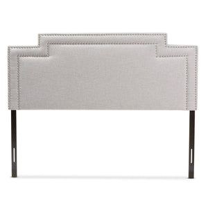 Baxton Studio Casey Modern and Contemporary Greyish Beige Fabric King Size Headboard Baxton Studio-Headboards-Minimal And Modern - 2