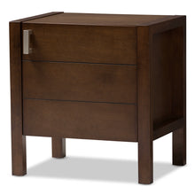 Baxton Studio Mandel Modern and Contemporary Brown Wood Nightstand Baxton Studio-nightstands-Minimal And Modern - 1