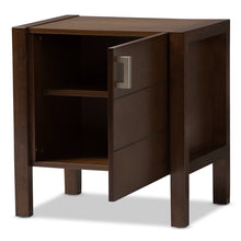 Baxton Studio Mandel Modern and Contemporary Brown Wood Nightstand Baxton Studio-nightstands-Minimal And Modern - 2